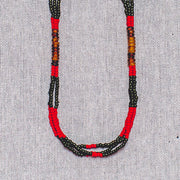 Montagnard Necklace - Green/Red/Amber