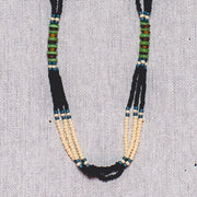 Montagnard Necklace - Navy/Cream/Jade