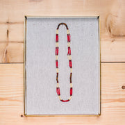 Montagnard Necklace - Red/Cream/Amber