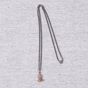 Praying Hands Charm Necklace in Gold Bronze