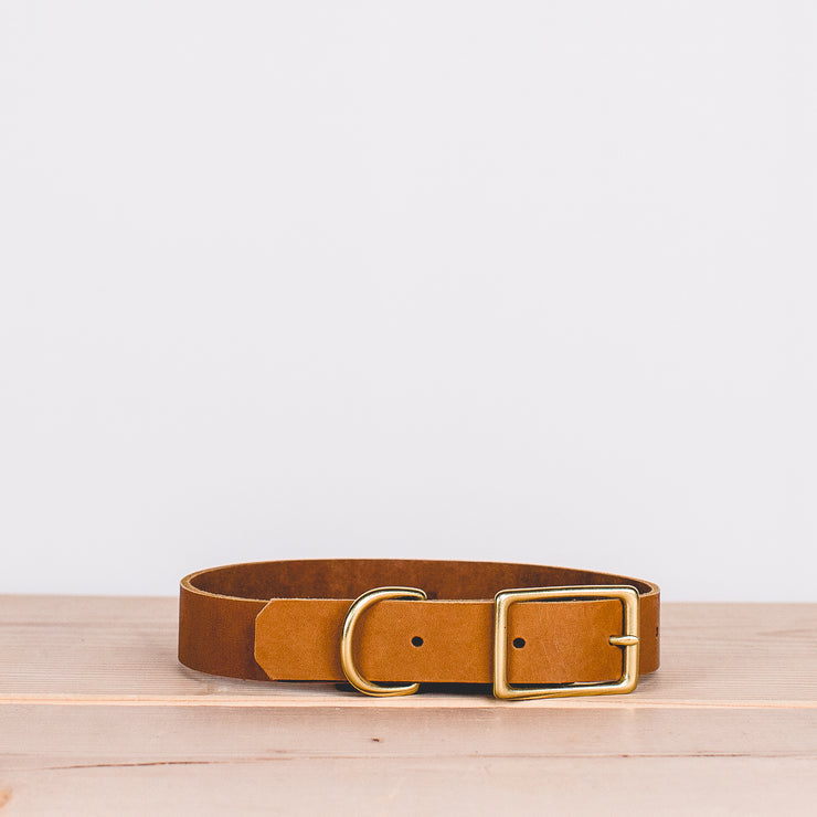 Willis Dog Collar - Brown (Medium)