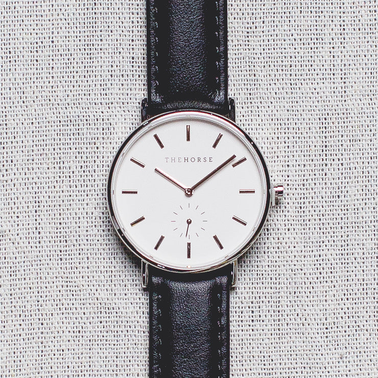 The Classic - Steel/White Dial/Black