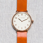 The Heritage - Rose Gold/Antique Dial/Tan