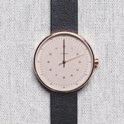 The Minimalist - Rose Gold/Blush Dial/Black