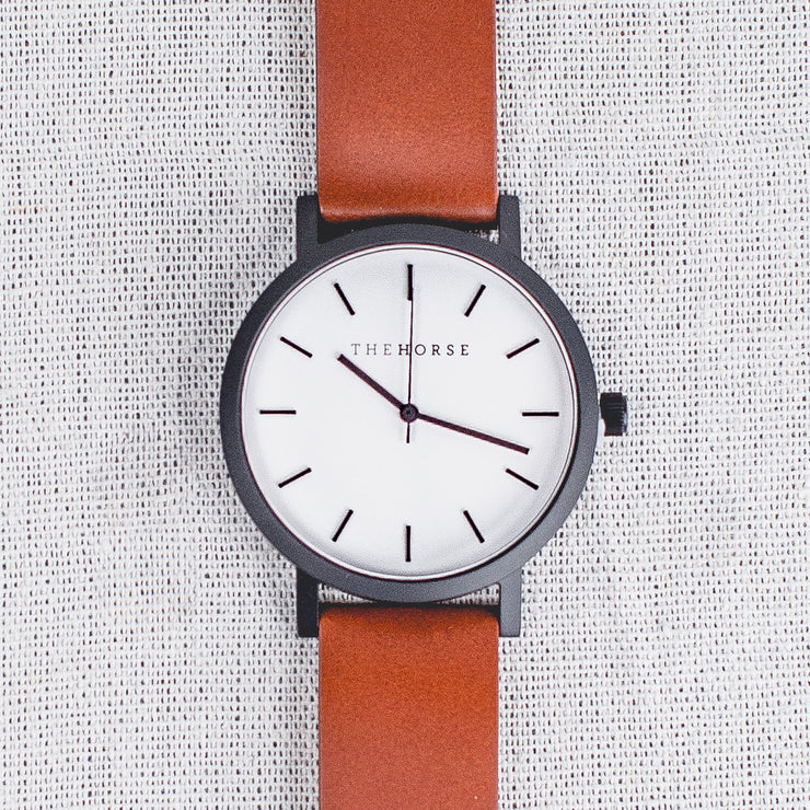 The Original - Matte Black/White Dial/Walnut