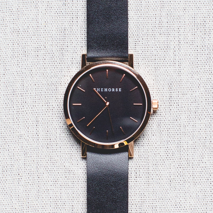 The Original - Rose Gold/Black Dial/Black