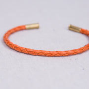 Flint Single Waxed Canvas Bracelet - Orange