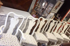 White Spotty Chairs