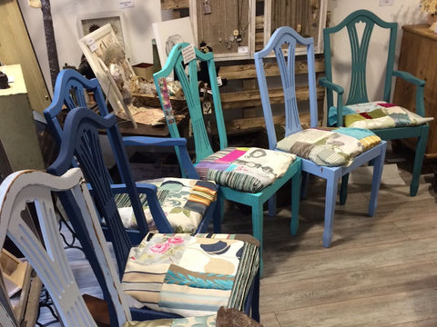 Hand Painted Patchwork Chairs
