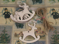 Wooden Shapes - Rocking Reindeers. Only at Elliemagpiel.