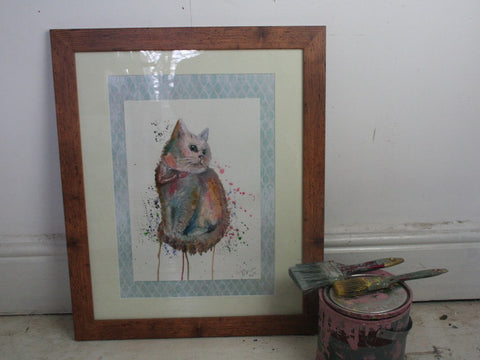 'David' Original Framed Watercolour