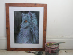 'Blue' Original Framed Watercolour