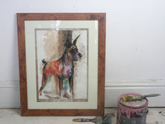 'Boxer' Original Framed Watercolour