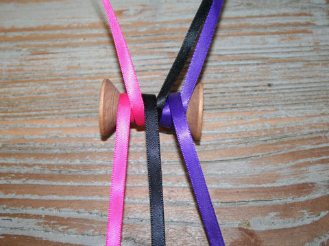 6mm Satin Ribbon | Black, Pink, Purple