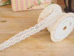 Lace and Pearl ribbon available at Elliemagpie.