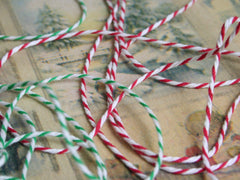 Bakers Twine Narrow Ribbon. Available in 2 colours at Elliemagpie.