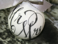 Mr and Mrs Script Bauble