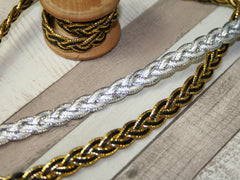 Gold and Silver Braid Trim