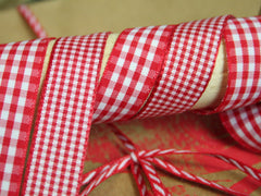 Gingham Ribbons 15mm