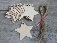 Wooden Shapes - Stars