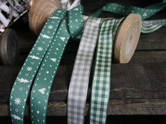 Green and Gingham Ribbons
