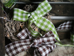 Jumbo Gingham Ribbon available in 2 colours from Elliemagpie.