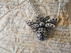 Silver bee necklace. Only at The Old Laundrette.