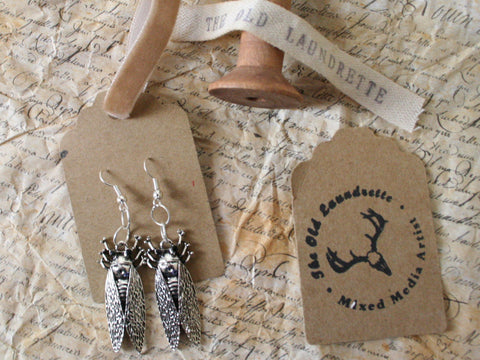Silver Insect Earrings
