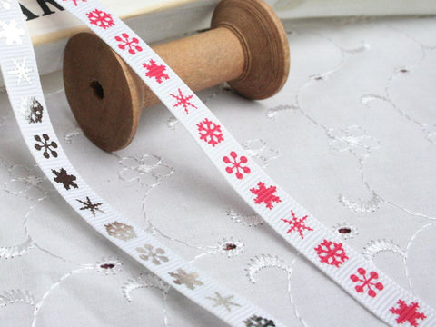 Snowflake Skinny Ribbon | Christmas Ribbon