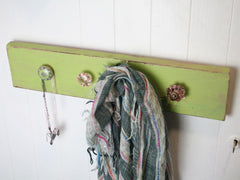 Lime Board Coat Hooks at The Old Laundrette