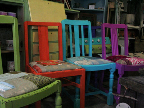 Funky Repurposed Chairs