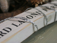Silver Glitter Rope Ribbon