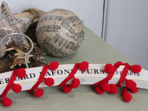 Red Pom Pom Trim Ribbon