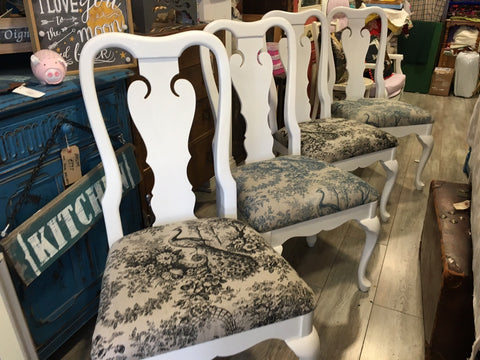 White Peacock Chairs