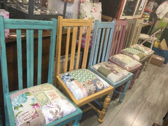 Pretty Painted Shabby Patchwork Chairs