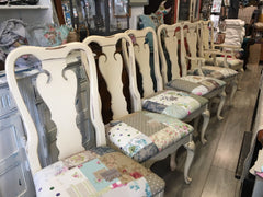 Cream Shabby Patchwork Chairs