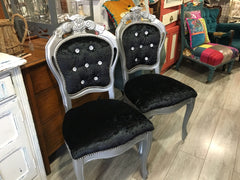 Black Rococo Dining Chairs