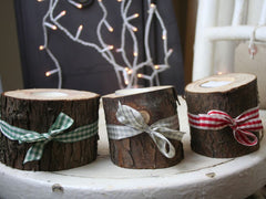 Wooden Branch Tealight Candle