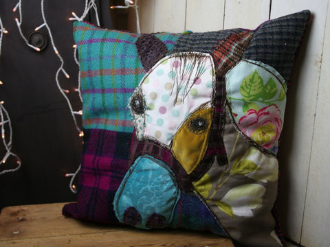 Bright Horse Patchwork Cushion