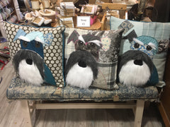 Bearded Schnauzer Patchwork Cushion