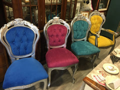 Coloured Rococo Dining Chairs