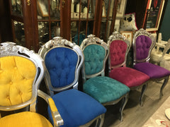 Bright Rococo Dining Chairs