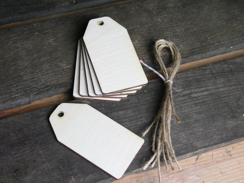 Wooden Shapes - Tags