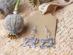 Sewing Machine Charm Earrings from The Old Laundrette.