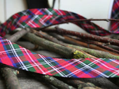 Red Tartan Bias Binding