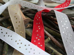 Star Print Ribbon, 4 Colours