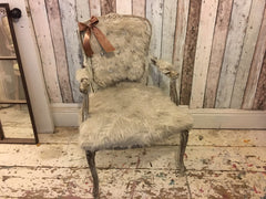 Yeti Fur Louis Bedroom Chair