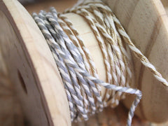 Bakers Twine. Gold and silver.