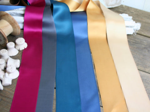 50mm Double Satin Ribbon | Six Colours