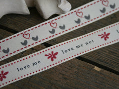 'Love Me' Grosgrain Ribbon | Birds Ribbon